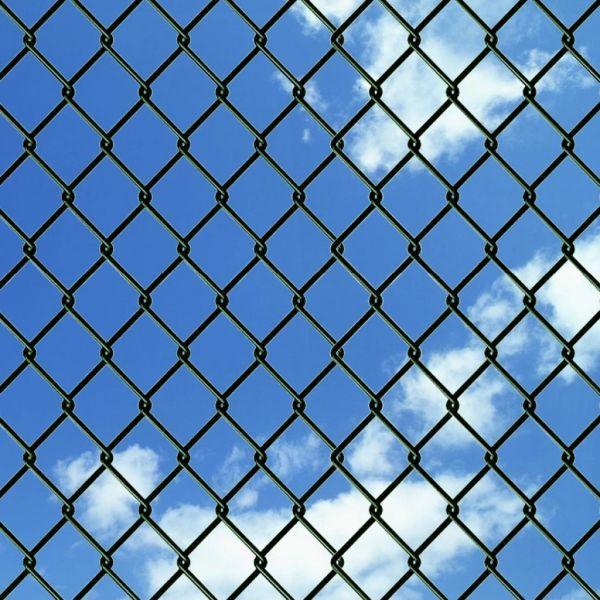 Gard de legătură din plasă, verde, 1,5 x 15 m, oțel