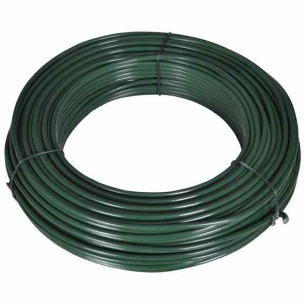 vidaXL Fir de tensionare pentru gard, 80 m, 2,1/3,1 mm, oțel, verde