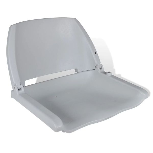 Scaun de barcă cu spătar pliabil, fără pernă, gri, 41 x 51 x 48 cm