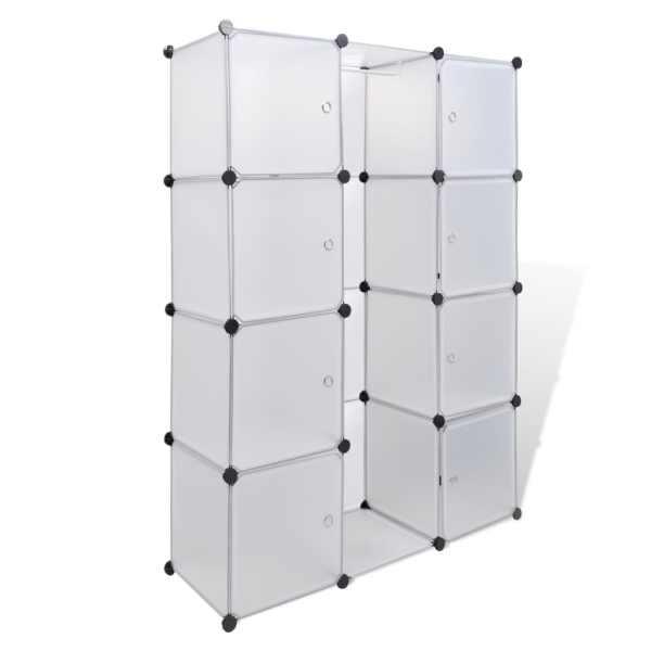 vidaXL Dulap modular cu 9 compartimente, 37 x 115 x 150 cm, alb