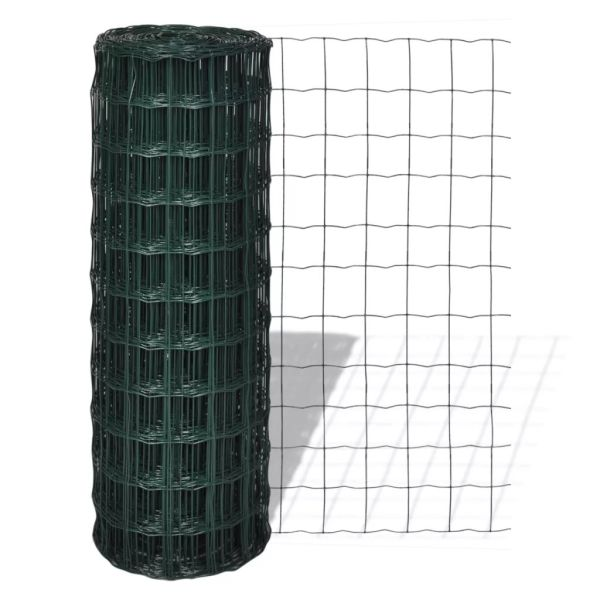 vidaXL Euro gard, verde, 10 x 1,2 m, oțel