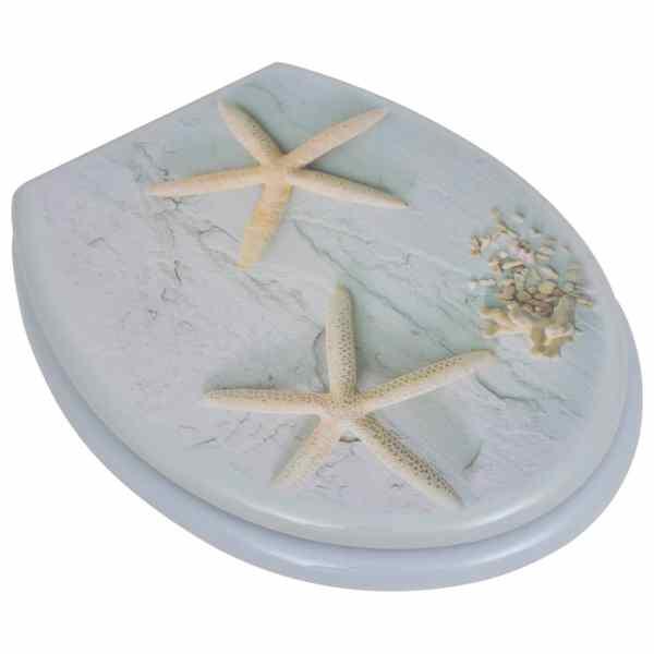 vidaXL Capac WC, MDF, model stea de mare