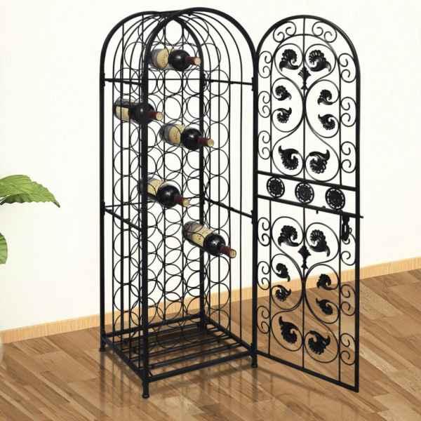 vidaXL Suport sticle de vin pentru 45 de sticle, metal