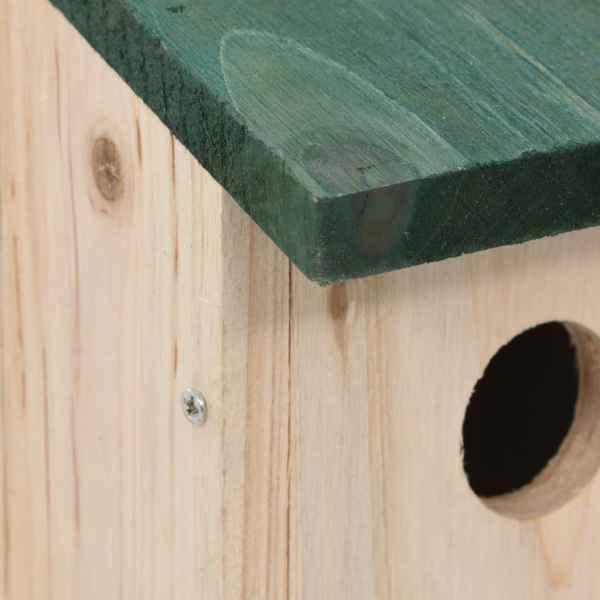vidaXL Căsuțe de păsări, 4 buc., 12 x 12 x 22 cm, lemn