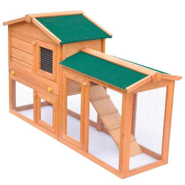 vidaXL Cușcă de exterior pentru iepuri cușcă adăpost animale mici, lemn