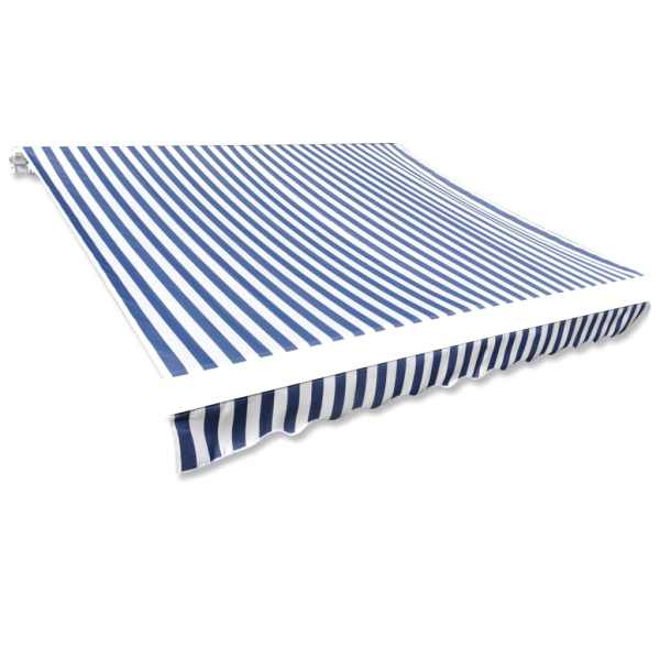vidaXL Pânză copertină albastru & alb 4 x 3 m (cadrul nu este inclus)