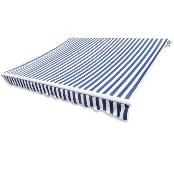 Pânză copertină albastru & alb 6 x 3 m (cadrul nu este inclus)