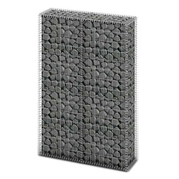 vidaXL Coș gabion cu capace, sârmă galvanizată, 150 x 100 x 30 cm