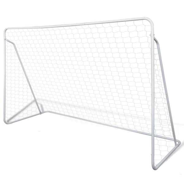 Poartă de fotbal din oțel calitate superioară set 240 x 90 x 150 cm