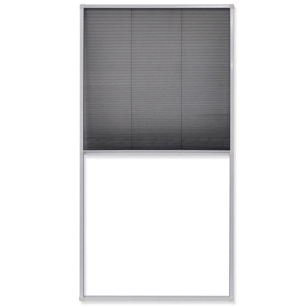 vidaXL Fereastră cu ecran de insecte plisat, 80 x 160 cm