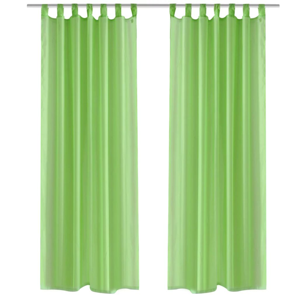 Perdea transparentă Culoare Măr verde 140 x 175 cm 2 buc