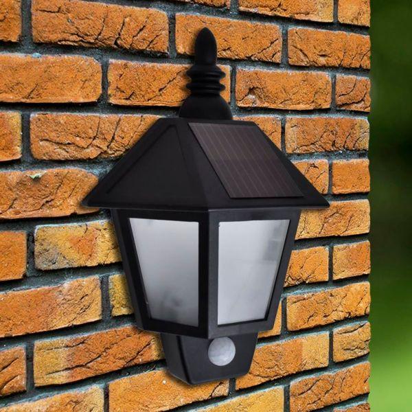 Lampă solară de perete cu senzori de mișcare, 2 buc