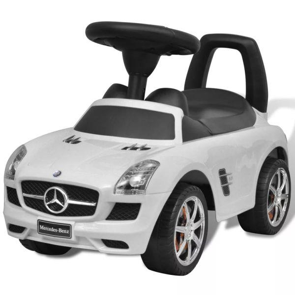 Mașină pentru copii fără pedale Mercedes Benz Alb