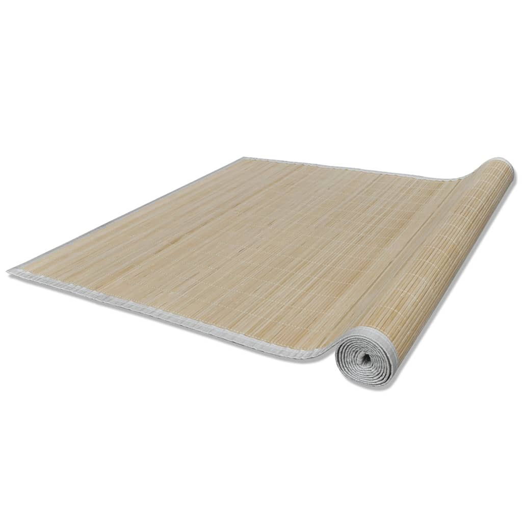 Covor dreptunghiular din bambus natural 80 x 200 cm