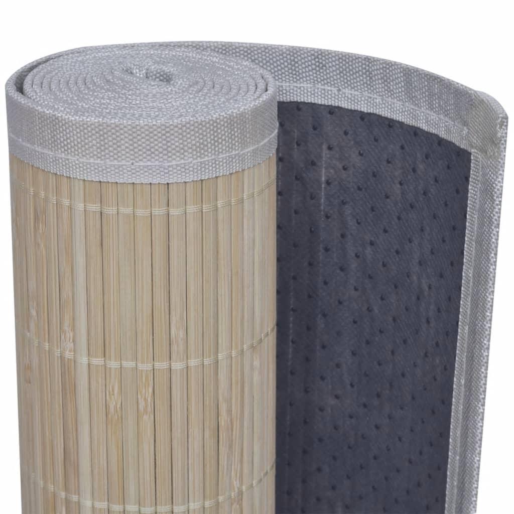 Carpetă dreptunghiulară din bambus natural, 120 x 180 cm