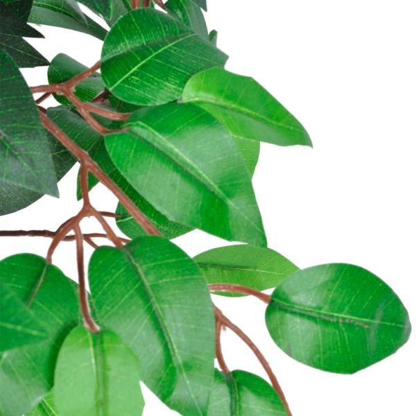 Ficus artificial cu aspect natural și ghiveci, 110 cm