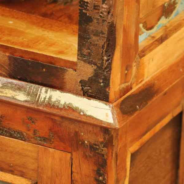 Bibliotecă din lemn reciclat vintage
