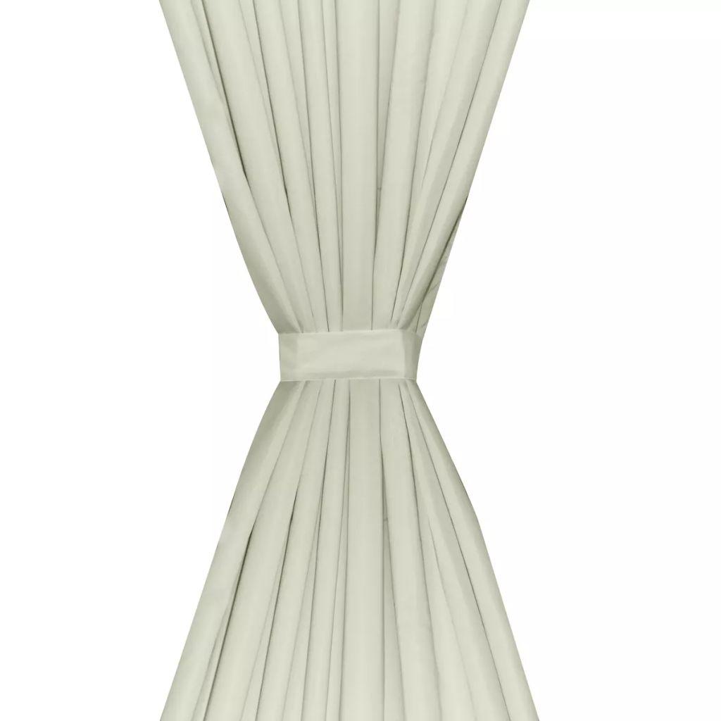 vidaXL Draperii opace, 2 buc., strat dublu, 140 x 245 cm, crem