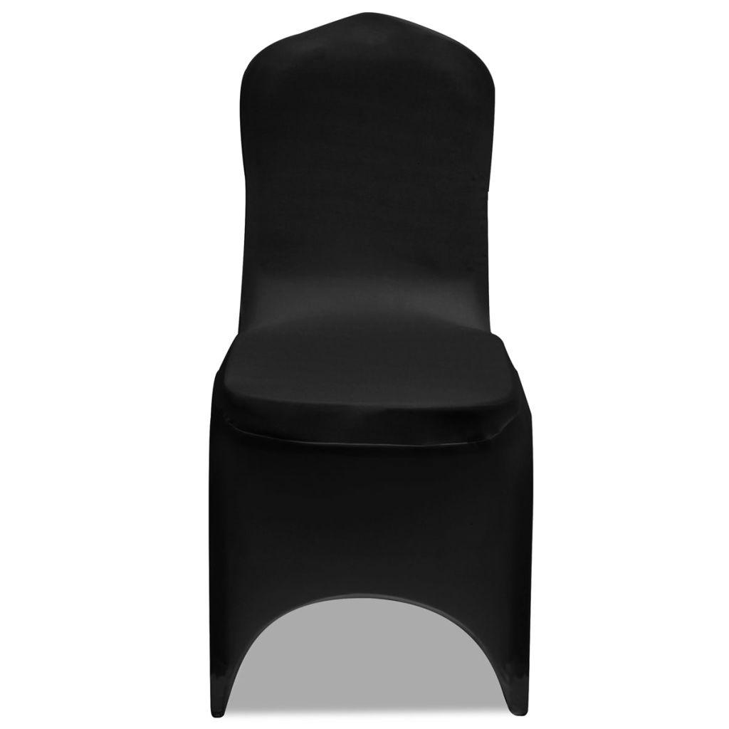Set huse elastice pentru scaune 50 buc. Negru
