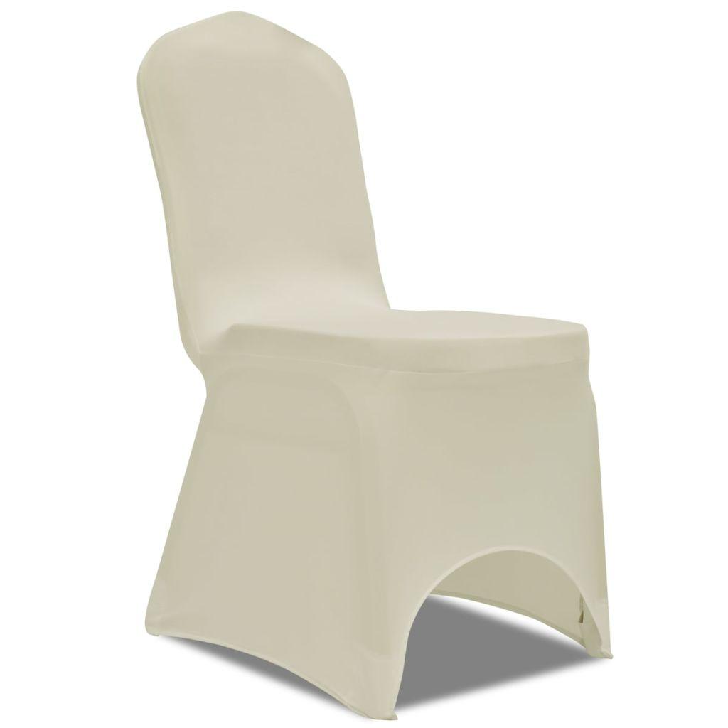 Set huse elastice pentru scaune 50 buc. Crem