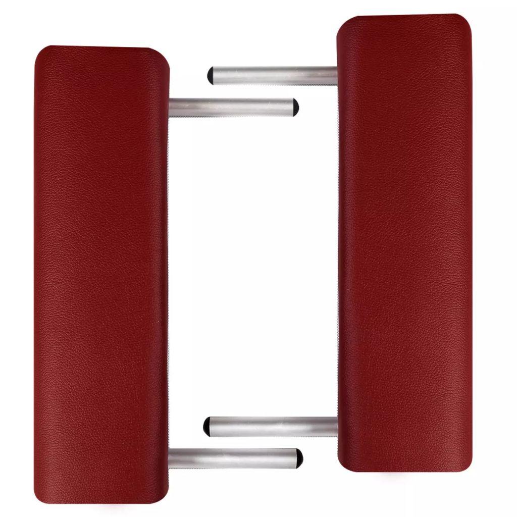 Masă de masaj pliabilă 3 părți cadru din aluminiu Roșu
