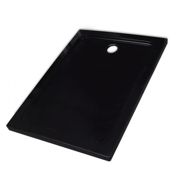 Cădiță de duș dreptunghiulară din ABS, negru, 80 x 110 cm