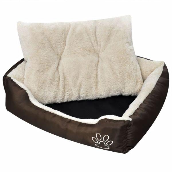 Pat călduros pentru câini cu pernă căptușită, S