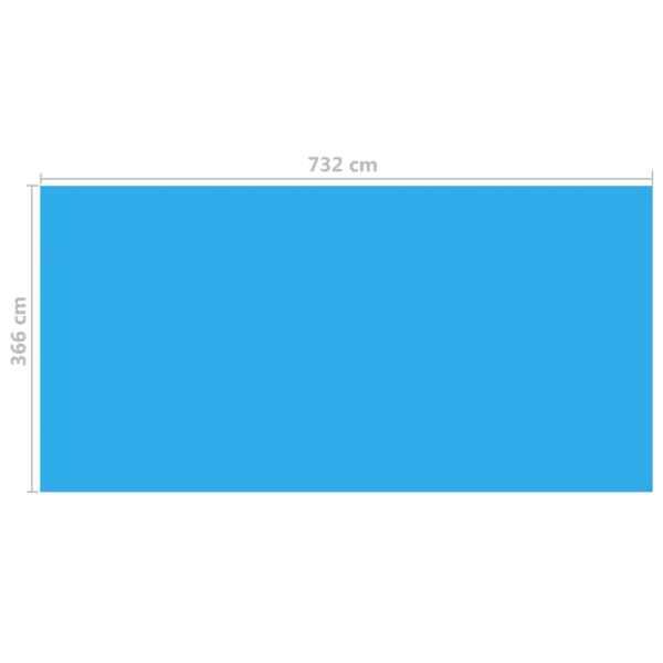 Folie dreptunghiulară pentru piscină din PE, 732 x 366 cm, albastru