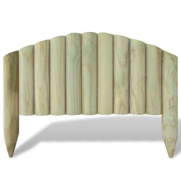 Panouri din bușteni pentru gazon, 10 buc., 55 cm, lemn