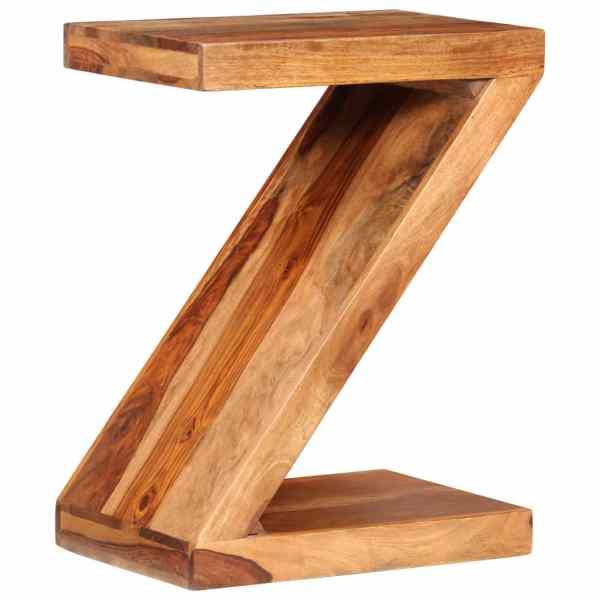 vidaXL Masă laterală în formă de Z, lemn masiv de sheesham