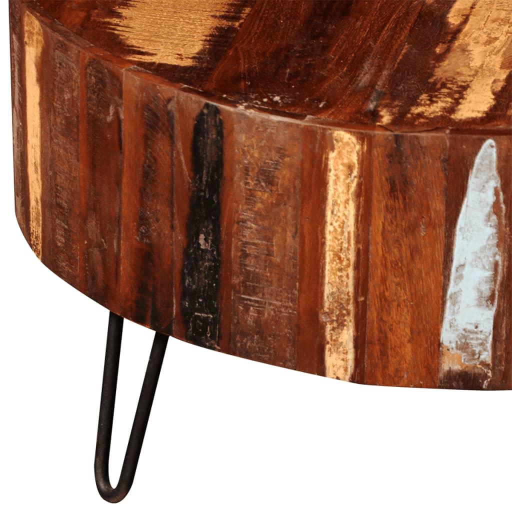 Măsuță de cafea rotundă, lemn masiv de sheesham
