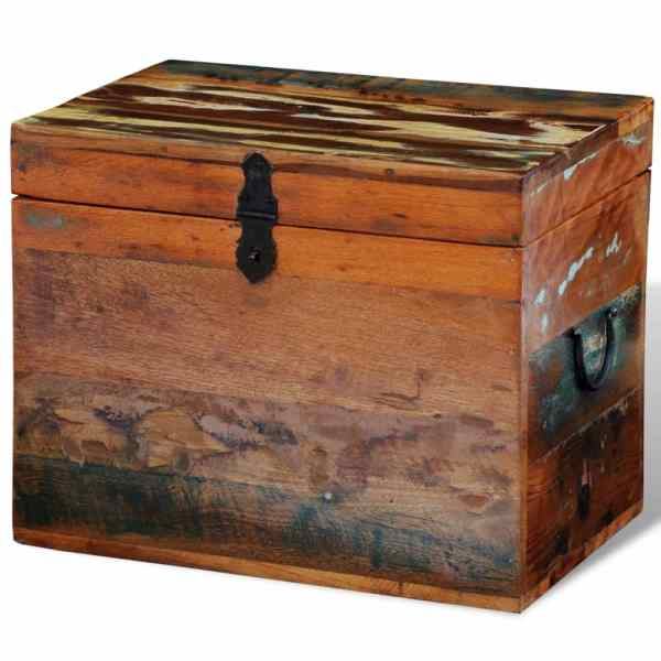 vidaXL Cutie de depozitare din lemn masiv reciclat