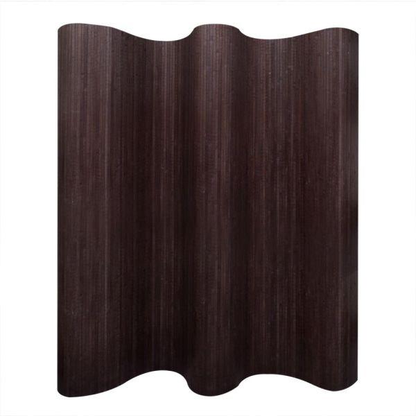 vidaXL Paravan de cameră din bambus, maro închis, 250 x 165 cm