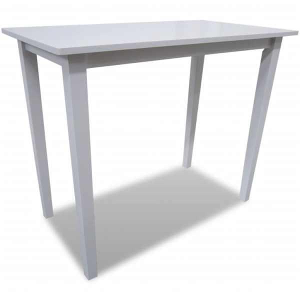 Masă de bar din lemn, alb