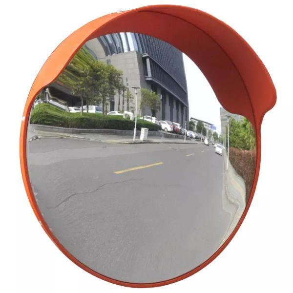 Oglindă de trafic convexă, portocaliu, 45 cm, plastic PC, de exterior