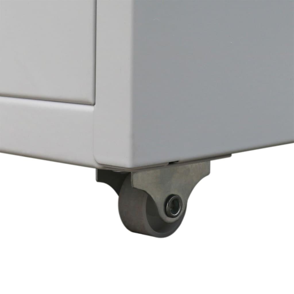 vidaXL Fișet cu 5 sertare gri 68,5 cm oțel