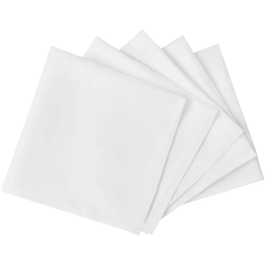 100 șervete de masă 50 x 50 cm, alb