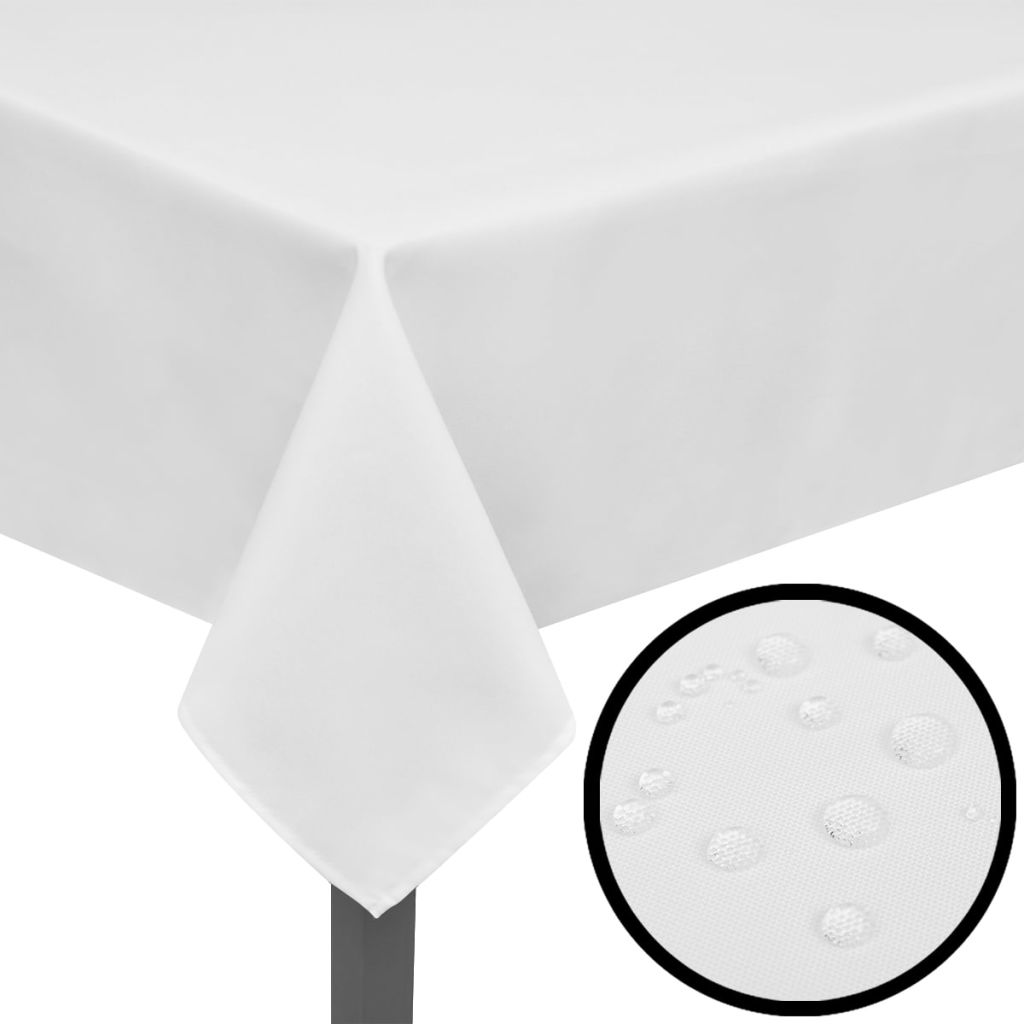 Fețe de masă, 130 x 130 cm, alb, 5 buc.