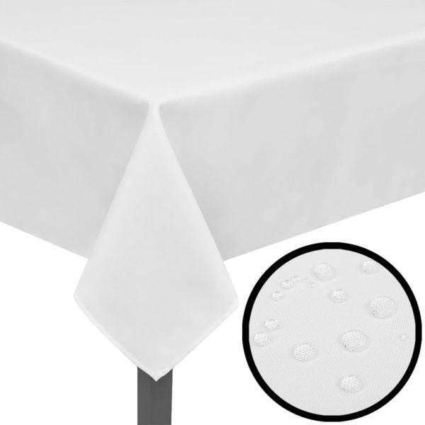 Fețe de masă, 220 x 130 cm, alb, 5 buc.