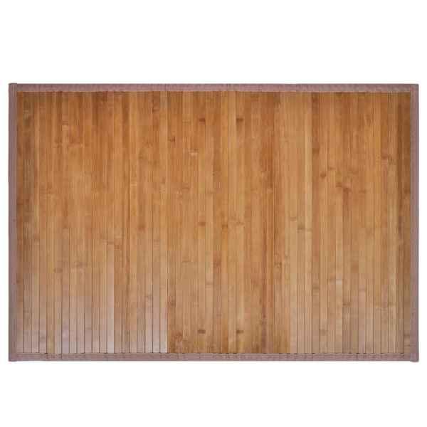 Covor baie bambus, 40 x 50 cm, maro