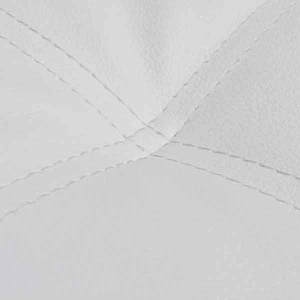 Șezlong cu pernă, alb, piele ecologică