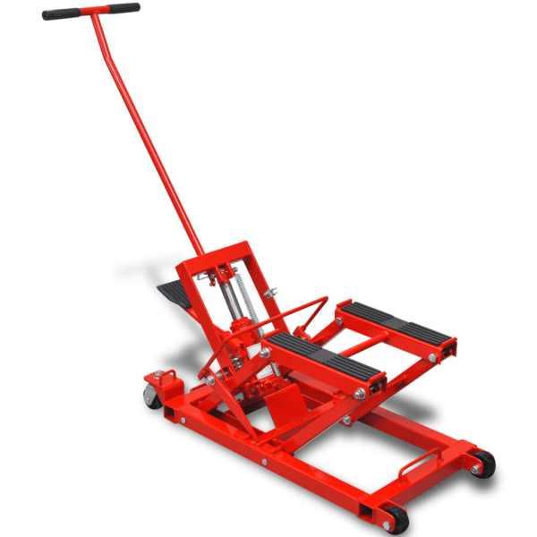 Cric hidraulic pentru motocicletă/ATV 680 kg, roșu