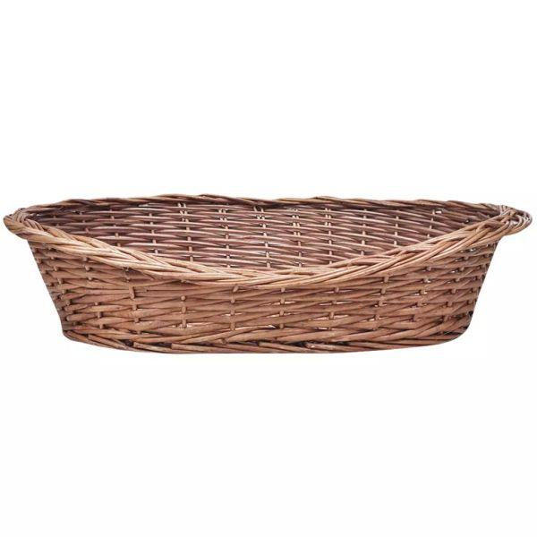 Coș/Pătuț de răchită pentru câini/animale de casă, 50 cm, natural