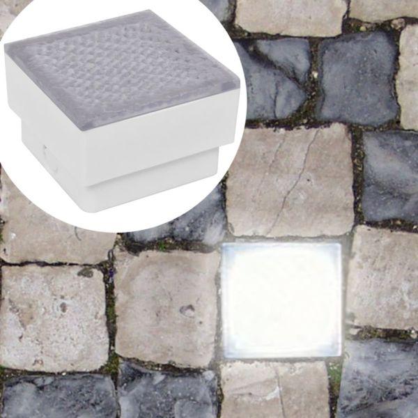 2 Spoturi LED încastrabile în sol 100 x 100 x 68 mm