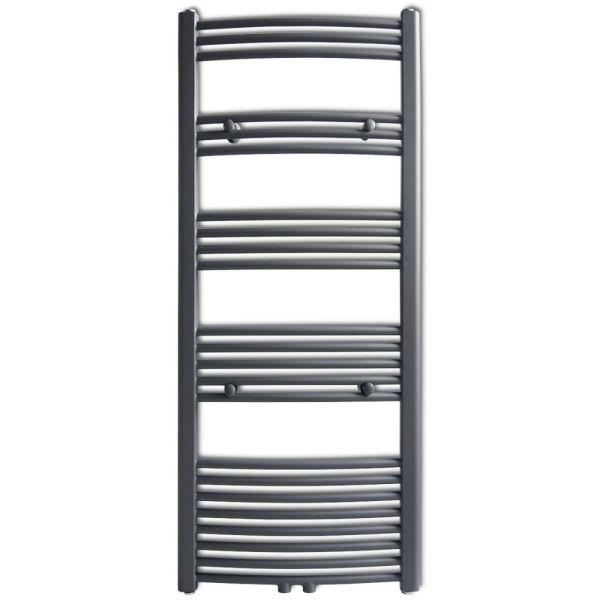 Radiator port-prosop încălzire centrală baie, curbat, 600 x 1424 mm, Gri