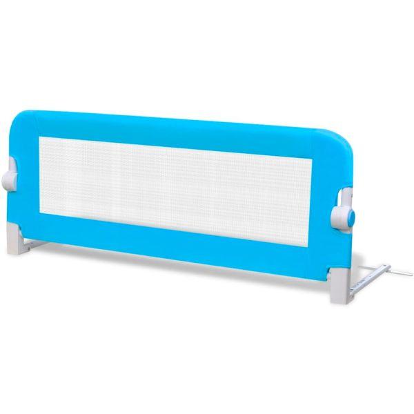 Balustradă de siguranță pentru pat copil, albastru, 102×42 cm