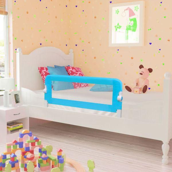 vidaXL Balustradă de siguranță pentru pat copil, albastru, 102×42 cm