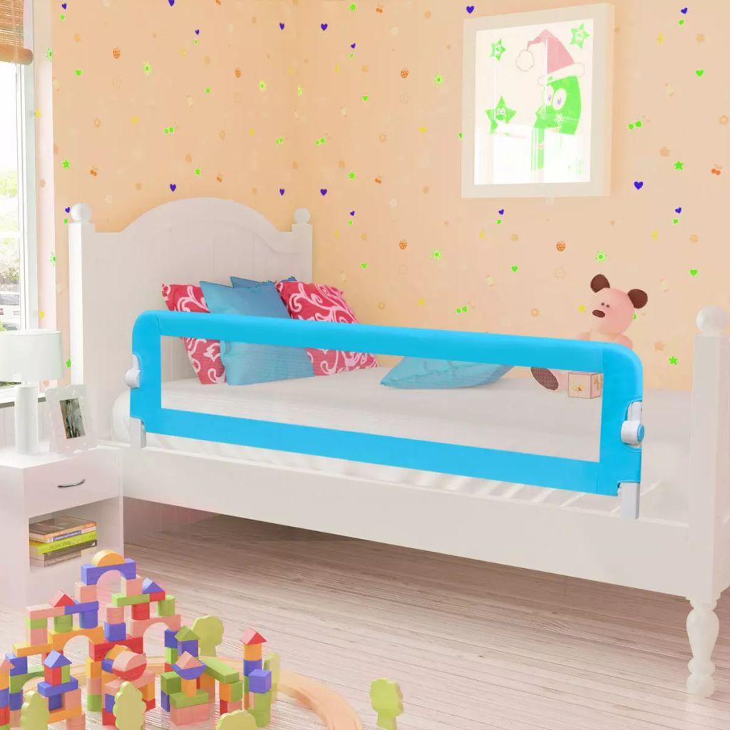 vidaXL Balustradă de siguranță pentru pat copil, albastru, 150×42 cm