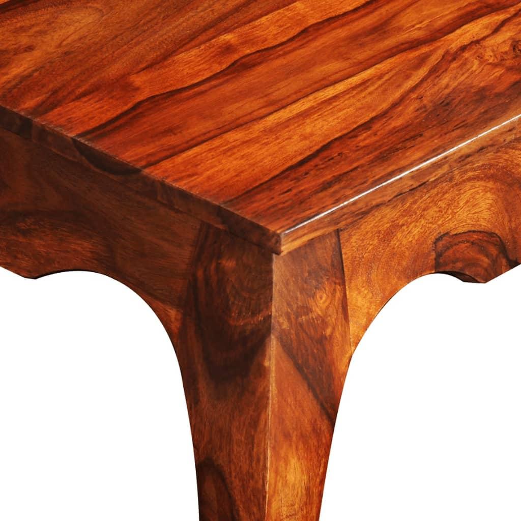 Măsuță de cafea, 40 cm, lemn masiv de sheesham