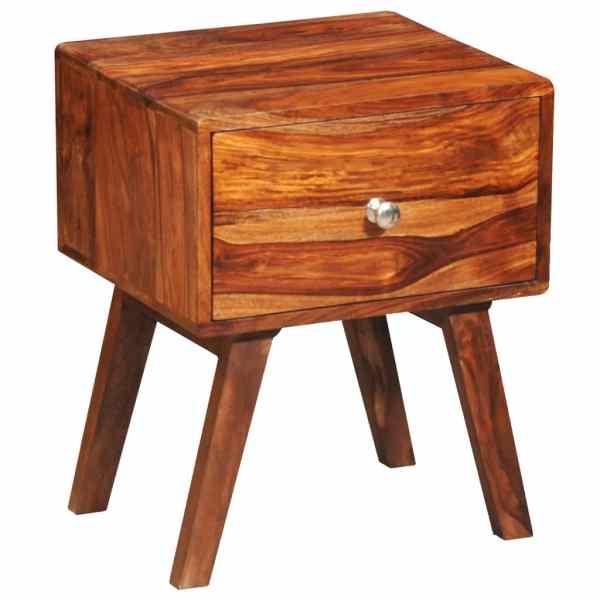 vidaXL Noptieră cu 1 sertar, 55 cm, lemn masiv de sheesham